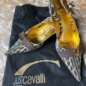 Just Cavalli Leopard Print Heel